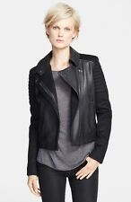 Vince Quilted Contrast Leather Jacket, $895