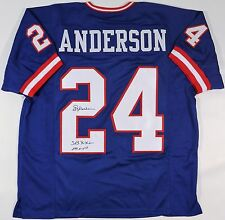 OTTIS ANDERSON SIGNED GIANTS CUSTOM BLUE JERSEY JSA W AUTHENTICATED