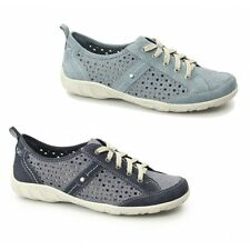 Earth Spirit WOODBRIDGE Ladies Leather Lace Up Trainer Shoes Navy