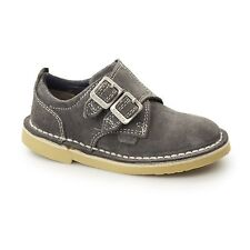 Kickers ADLAR MONK DSTRAP Kids Casual Suede Leather Double Monkstrap Shoes Grey