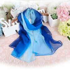 6-color Chic Beach Soft Scarf Thin Silky Georgette Chiffon Neck Scarf Shawl New