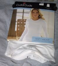 Cuddl Duds Softwear Warm Layers White Long Sleeve Crew New With Tag