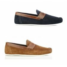 Red Tape WARDON Mens Suede Leather Stylish Slip On Summer Casual Penny Loafers