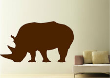 Animal Wall Stickers Rhino Eating Vinyl Decal 15 Colours 01674