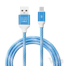 2A Strong Braided Charging Cable Micro USB 2.0 High Speed Data Sync Charger Lead