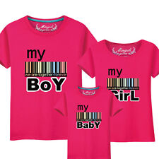 Parents short sleeve Leisure summer clothes Couple lovers T-Shirt boy girl baby