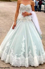 Luxury Crystal Lace Wedding Dresses Sweetheart Princess Bridal Gowns Custom Made