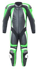 RST PRO SERIES II ONE PIECE MOTORCYCLE RACE LEATHERS BLACK GREEN 1840
