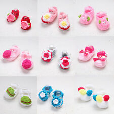 Handmade Newborn baby BOY Girl Crochet Knit Socks Flower Toddler Shoes nuevo ytr