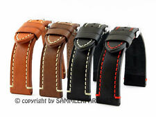 LEATHER BAND Retro Look 18, 20, 22, 24mm BAND CATALONIA Pilot Watch BAND STRAP