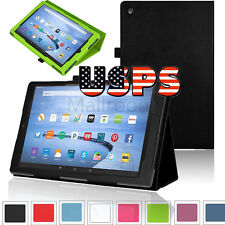 "PU Leather Shell Fold Case Cover For Amazon Kindle Fire 7"" FIRE HD 8"" Tablet US"