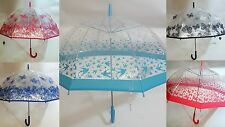 Butterfly Umbrella Dome Shape Clear dome Automatic Open Ladies Women's NEW
