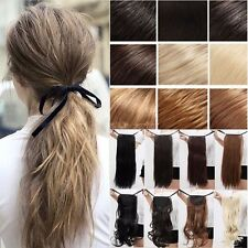 Deluxe Long Drawstring Ponytail Clip in Hair Extensions Extra Natural Thick Hair