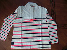 BNWT LADIES JOULES COWDRAY FUNNEL NECK MULTI STRIPED SWEATSHIRT SIZE 16.RRP £50