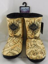 New Harry Potter Marauder's Map Womens Slipper Boots Plush Shoes Size S-XL