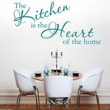 KITCHEN HEART Wall Art Sticker Lounge Room Quote Decal Mural Stencil Transfer