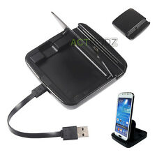 Portable Battery Charger Data Sync Dock Cradle For Samsung Galaxy S4 S5 I9600