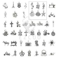 15-150pcs Antique Tibetan Silver Spacer Pendant Jewelry Findings 40 Style HC