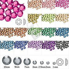 1000pcs Round Acrylic Rhinestones Flatback Beads Nail Art Decoration 1mm-10mm HC