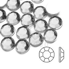 1000pcs White Acrylic Flatback Rhinestones Round Bead Nail Art Decor 1mm-10mm HC