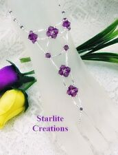 Barefoot Sandals Amethyst & Silver webbed V Style beach  Bridal Foot Jewellery