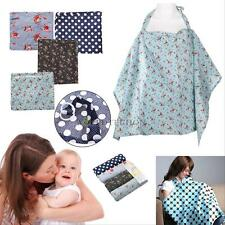 Baby Mum Nursing Breastfeeding Cotton Poncho Cover Up Udder Cover Shawl Blanket&