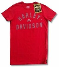 Harley Davidson Trunk LTD On Your Mark Girls Juniors Red Shirt New Official NWT
