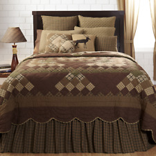 Barrington Queen King Patchwork 4 Piece Country Quilt Set by VHC Brands