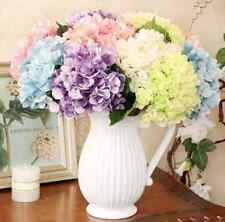 Fake Silk Flowers Bouquet Artificial Hydrangea Wedding Bridal Party Home Decor H