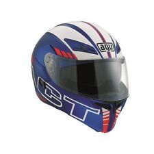 AGV Compact ST Seattle Flip Up DVS Motorcycle Helmet - Blue/White/Red
