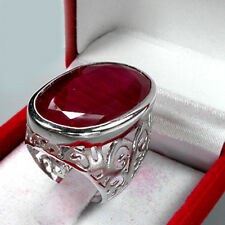 MAGNIFICENT ! TOP BLOOD RED RUBY REAL 925 STERLING SILVER RING