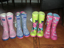 BNWT GIRLS LADIES JOULES WELLIES WELLINGTONS DOG,PONY or ZIG ZAG SIZE 3,6 OR 7