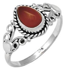 Carnelian Gemstone Ring Solid 925 Sterling Silver Jewelry IR37423