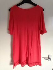 NEW SO FABULOUS CURVE PLUS SIZE CORAL COLD SHOULDER TOP VEST SIMPLY BE BOHO LOOK