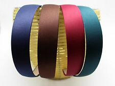 "Wide 28mm(1.1"") Alice Covered Satin Hair Band Headband Korean Hairband Head Wear"