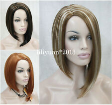 Fashion Sexy  Ladies Hair wig 3 colors Unique Short Straight Women Wigs+wig cap