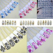 Nail Art Stickers Nail Water Decals Nail Transfers Lace Flowers Floral Wfl