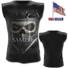 NEW Spiral Gothic Evil Demon Motorcycle Biker Sleeveless T Shirt-L,XL FREE SHIP!