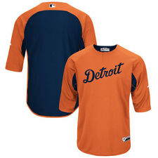 DETROIT TIGERS AUTHENTIC 2017 3/4 SLEEVE BATTING PRACTICE JERSEY MAJESTIC NEW