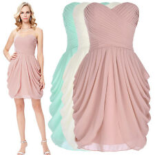 Short Mini Sexy Cocktail Party Evening Bridesmaid Dress Gown Formal Prom Dresses