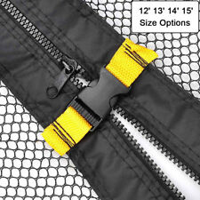 12/13/14/15' ft 4 Arch 8 Pole Round Trampoline Enclosure Net Replacement Safety