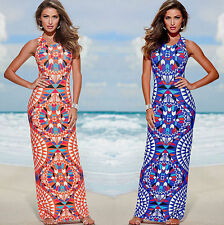 Evening Sexy  Beach Maxi Summer Sundressscreen Womens Party Dress New Long Boho