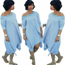 Off Shoulder Plus Size Oversize Sexy Women New Party Long Dress Casual Fashion