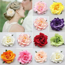 Freshing Visual Experience Women Big Rose Flower Brooch Hairpin Hair Clip Decor