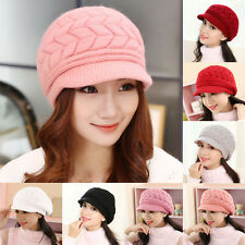 Knit Crochet Hat Slouch Ski Cap Winter Warm Baggy Beanie Women Ladies Beret Hot