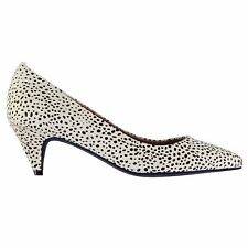 Jeffrey Campbell Womens Brea Hair Slip On Shoes Leather Stiletto Heels Pumps