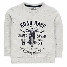 Crafted Kids Sweater Jumper Pullover Boys Ribbed Print Long Sleeve Crew Neck