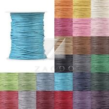 80M Waxed Cotton Cord Jewelry Making Thread Thong Beading Supply 0.8/1/1.5/2mm