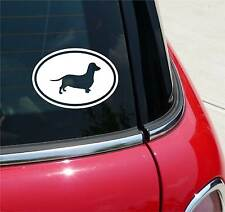 DACHSHUND DACHSHUNDS DOXIE DOG GRAPHIC DECAL STICKER ART CAR WALL EURO OVAL