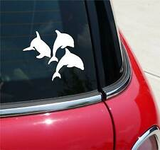 DOLPHINS TRIPLET DOLPHIN PORPOISE GRAPHIC DECAL STICKER ART CAR WALL DECOR